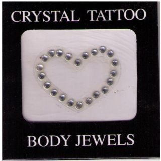 Crystal Tattoo / Body Juwels - Herz
